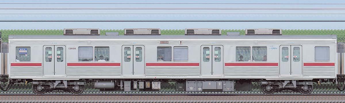 東武10000型モハ13608(リニューアル車)海側の側面写真