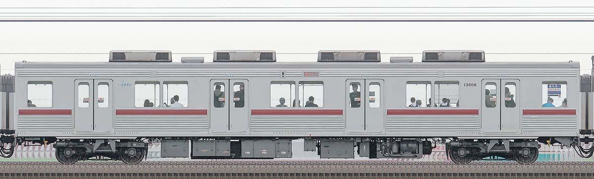 東武10000型モハ13608(リニューアル車)山側の側面写真