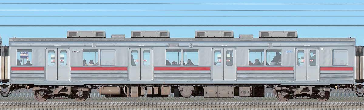 東武10000型モハ13802(リニューアル車)海側の側面写真