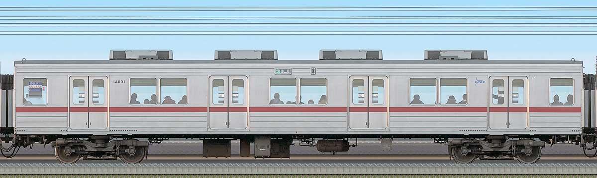 東武10030型サハ14031海側の側面写真
