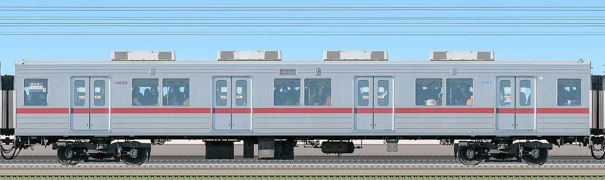 東武10030型サハ14032(リニューアル車)海側の側面写真