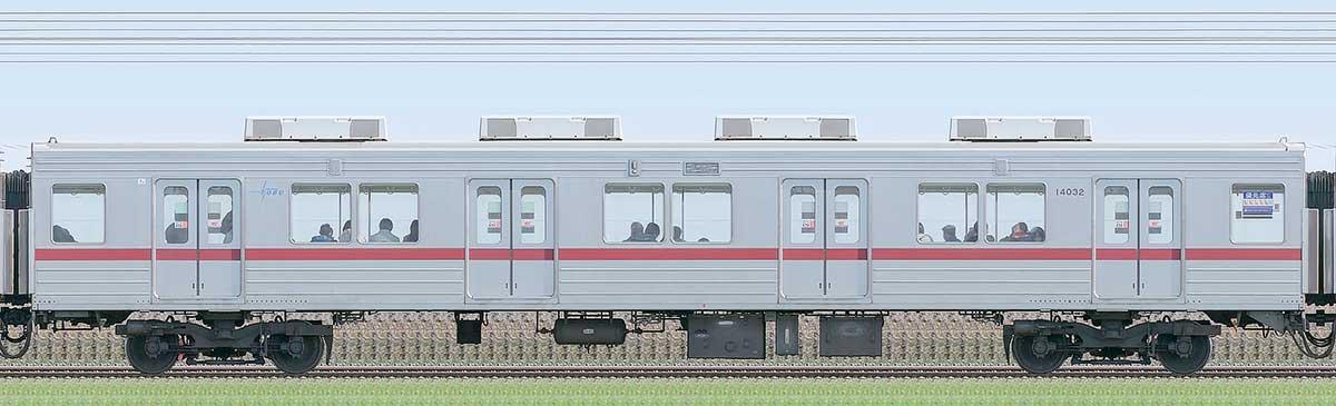 東武10030型サハ14032(リニューアル車)山側の側面写真