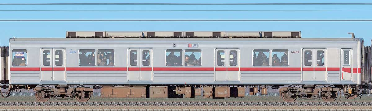 東武10030型クハ14459海側の側面写真