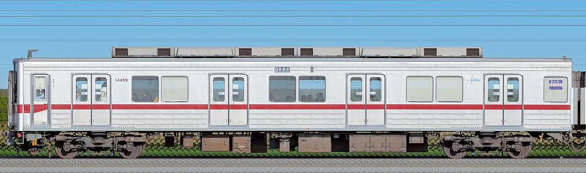東武10030型クハ14459山側の側面写真