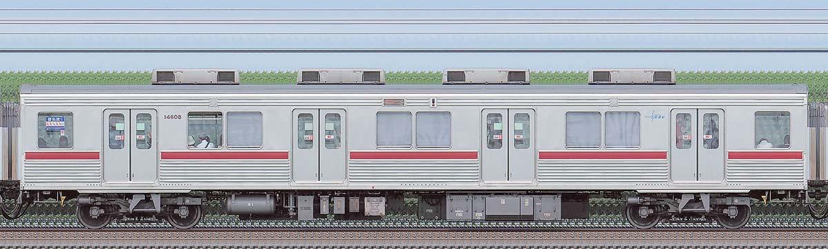 東武10000型サハ14608(リニューアル車)海側の側面写真