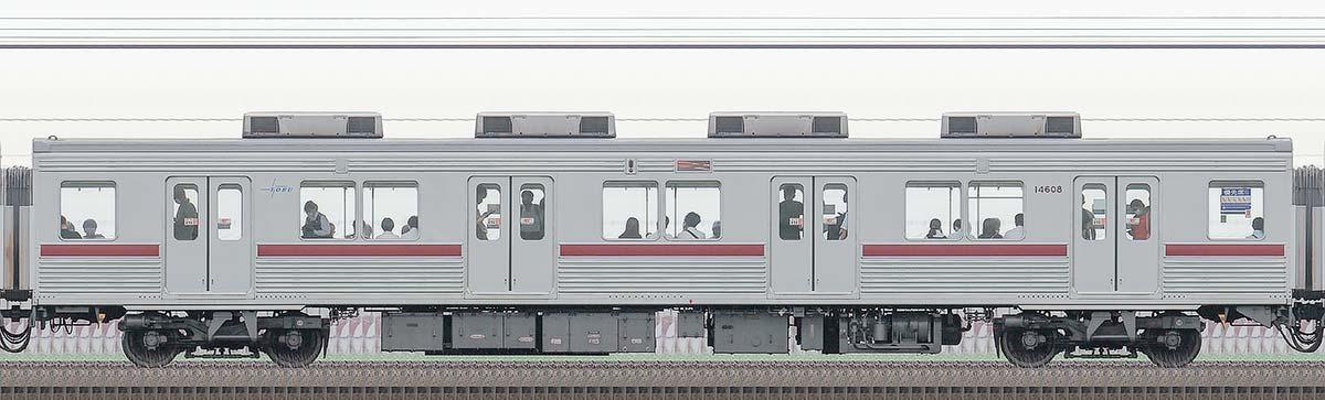 東武10000型サハ14608(リニューアル車)山側の側面写真