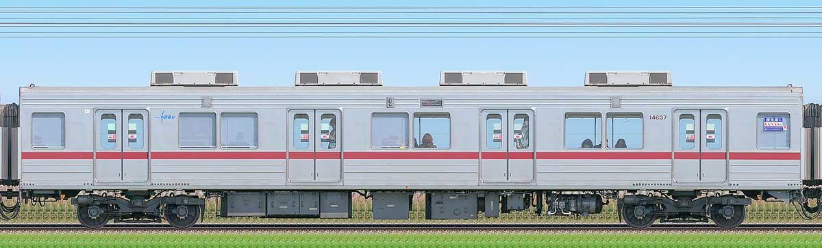 東武10030型サハ14637(リニューアル車)山側の側面写真