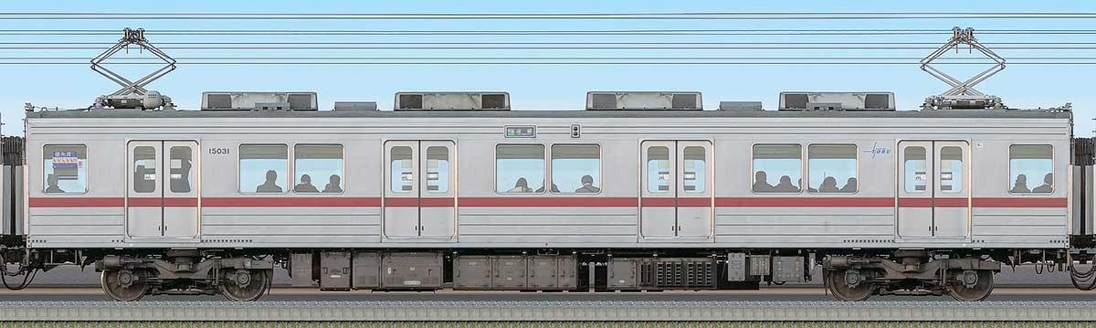 東武10030型モハ15031海側の側面写真