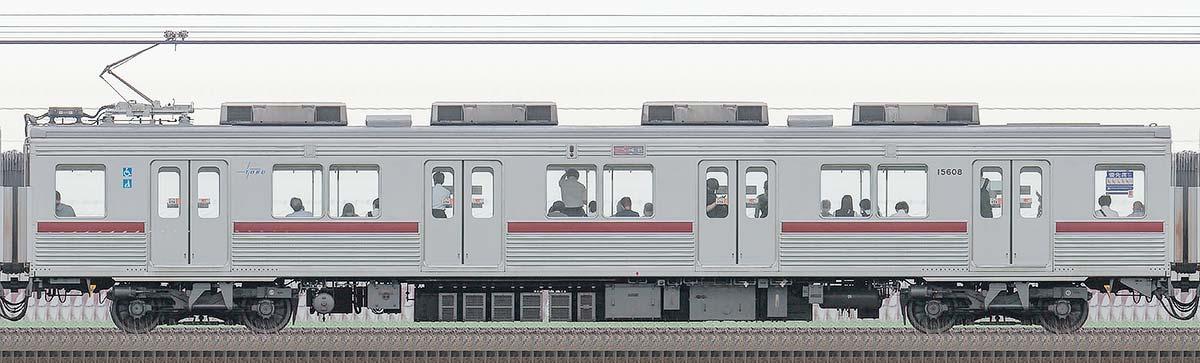 東武10000型モハ15608(リニューアル車)山側の側面写真