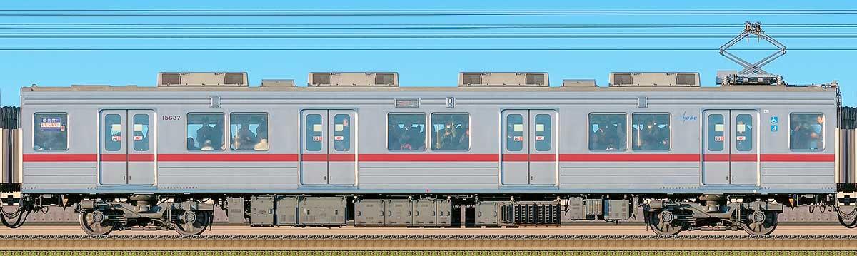 東武10030型モハ15637(リニューアル車)海側の側面写真