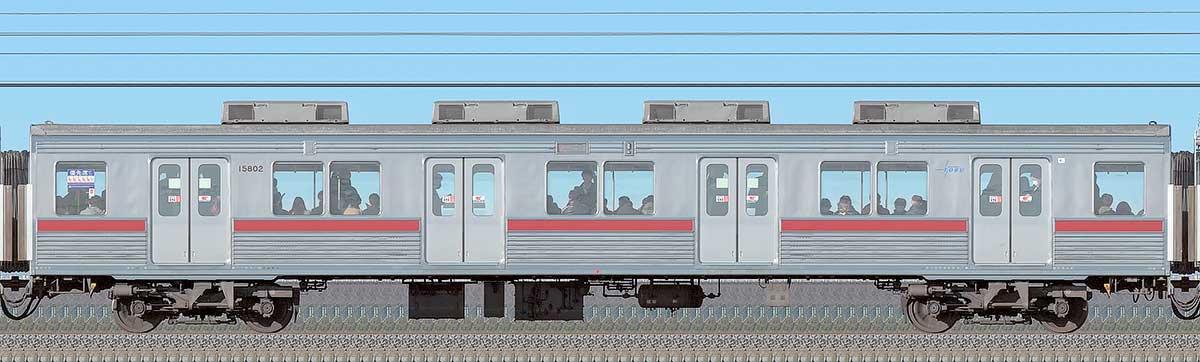 東武10000型サハ15802(リニューアル車)海側の側面写真