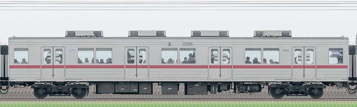 東武10030型サハ16031山側の側面写真