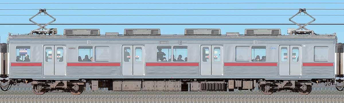 東武10000型モハ16802(リニューアル車)海側の側面写真