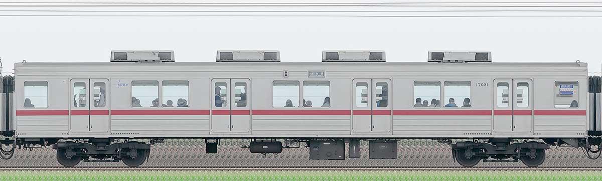 東武10030型サハ17031山側の側面写真