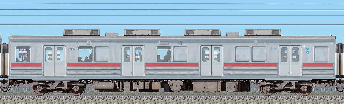 東武10000型モハ17802(リニューアル車)海側の側面写真