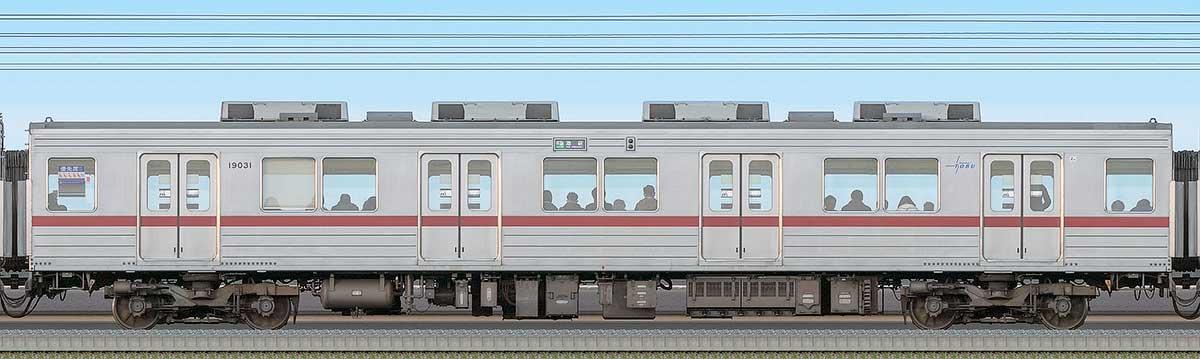 東武10030型モハ19031海側の側面写真