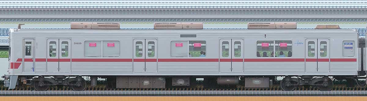 東武30000系クハ31609海側の側面写真