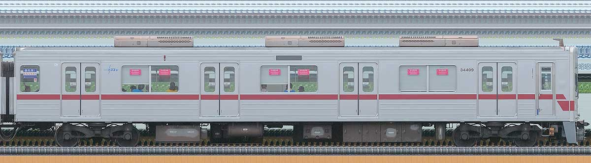 東武30000系クハ34409海側の側面写真