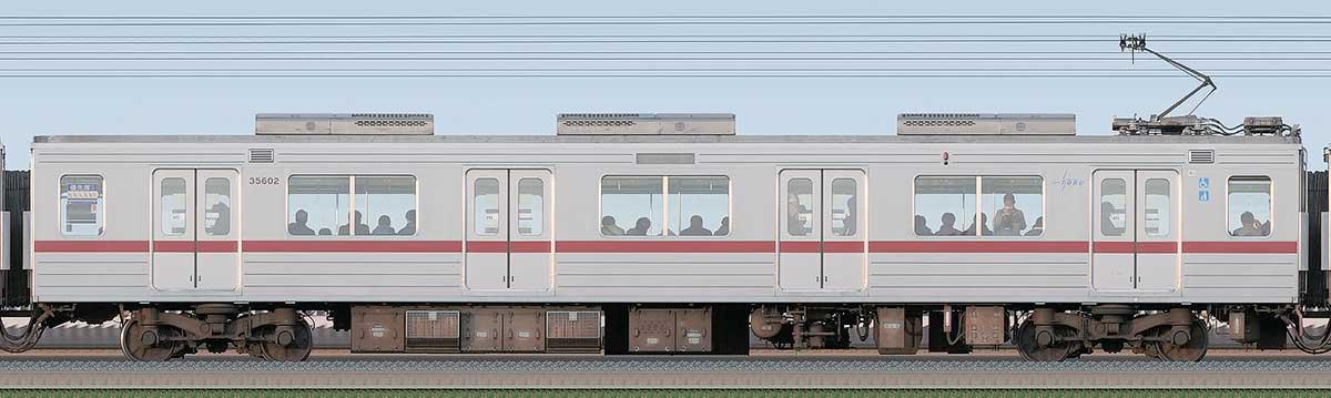 東武30000系モハ35602(PMSM搭載車)海側の側面写真