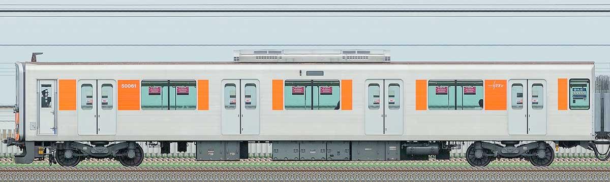 東武50050型クハ50061山側の側面写真