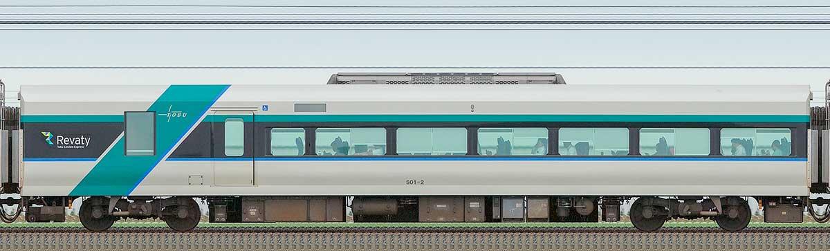 東武500系「リバティ」サハ501-2山側の側面写真
