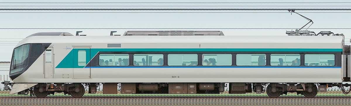東武500系「リバティ」モハ501-3山側の側面写真