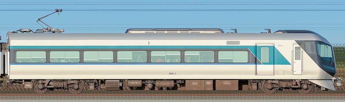 東武500系「リバティ」モハ503-1山側の側面写真