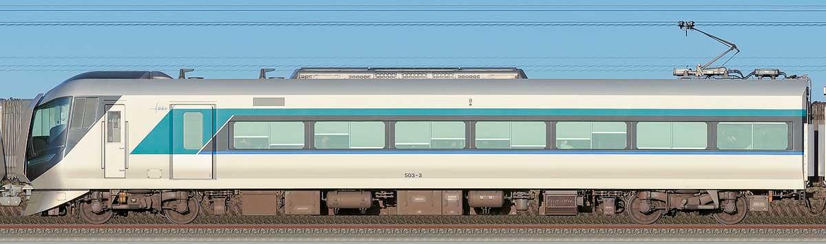 東武500系「リバティ」モハ503-3山側の側面写真