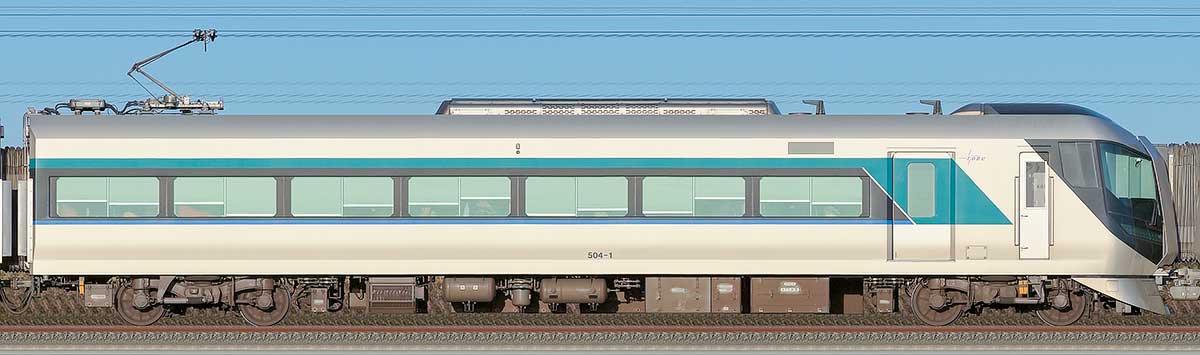 東武500系「リバティ」モハ504-1山側の側面写真