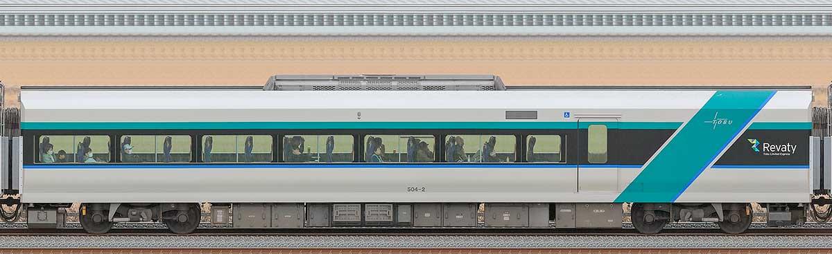 東武500系「リバティ」サハ504-2海側の側面写真