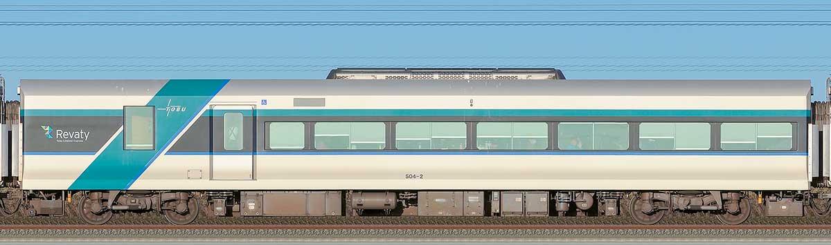 東武500系「リバティ」サハ504-2山側の側面写真