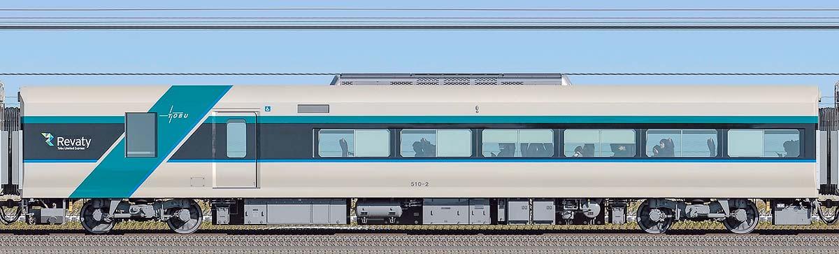 東武500系「リバティ」サハ510-2山側の側面写真