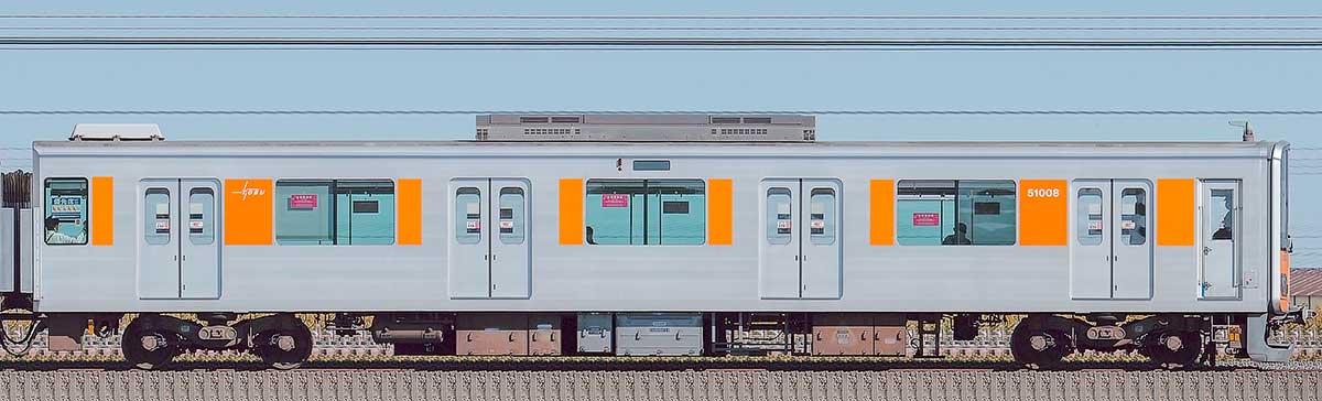 東武50000型クハ51008(スカイツリーライン)山側の側面写真