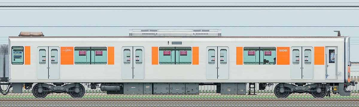 東武50050型クハ51061山側の側面写真
