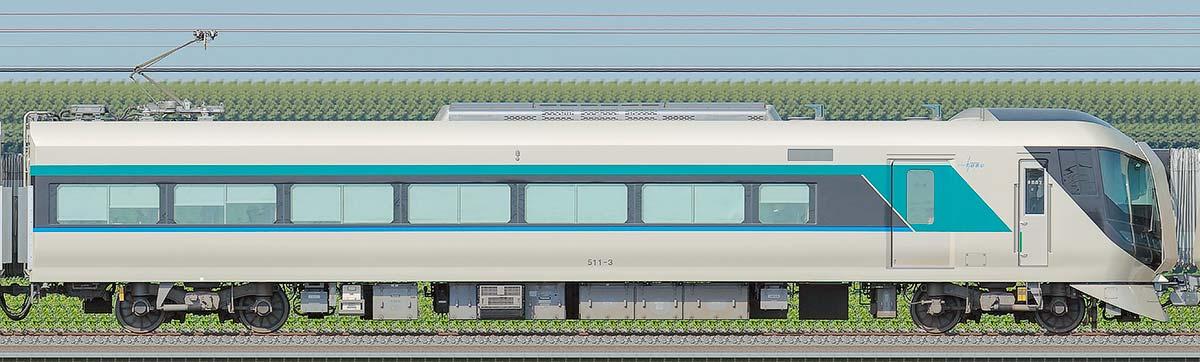東武500系「リバティ」モハ511-3海側の側面写真