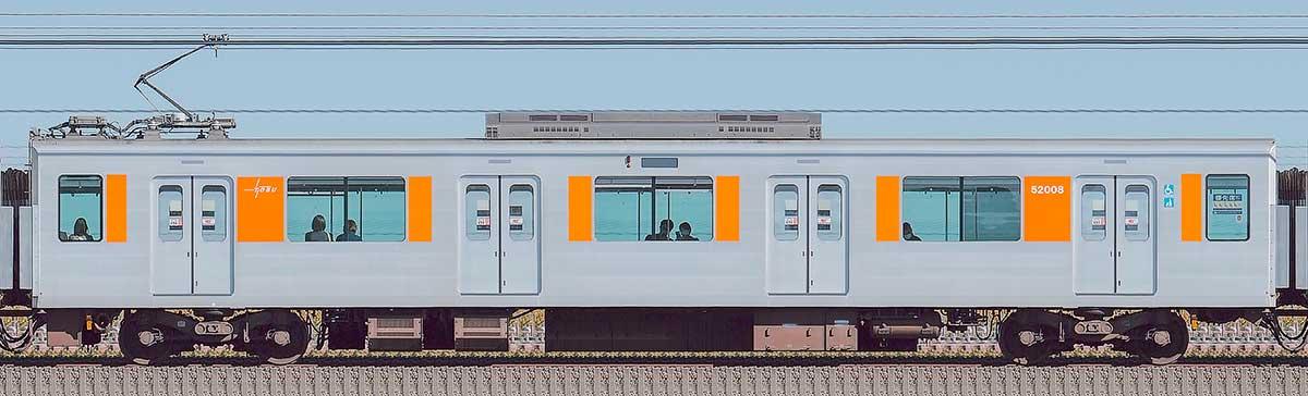 東武50000型モハ52008(スカイツリーライン)山側の側面写真