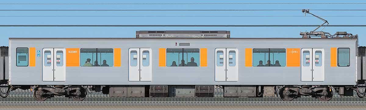 東武50050型モハ52061海側の側面写真