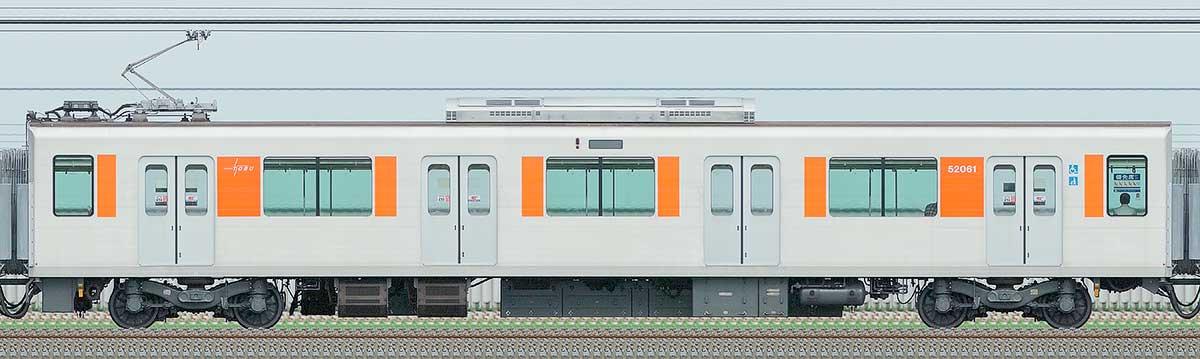 東武50050型モハ52061山側の側面写真