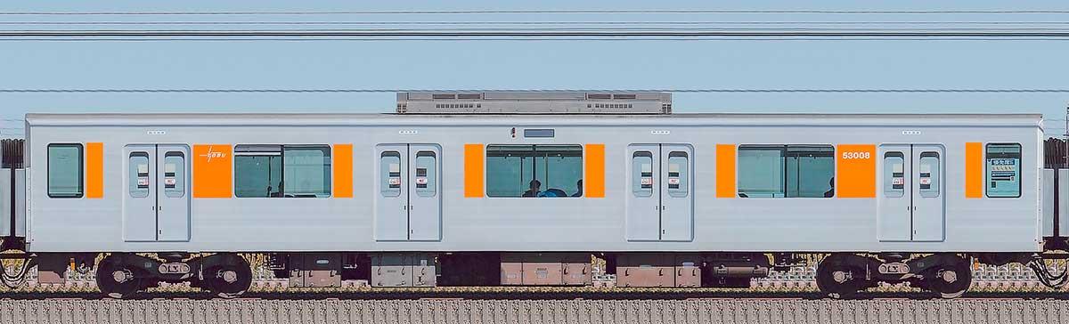 東武50000型モハ53008(スカイツリーライン)山側の側面写真