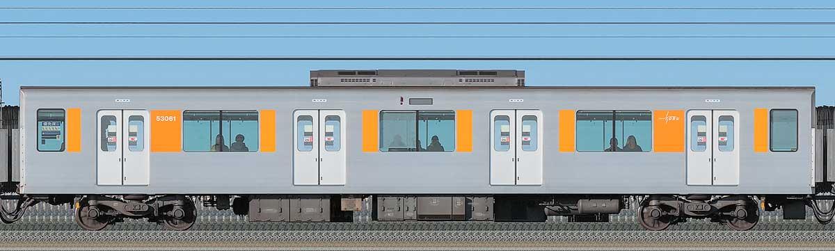 東武50050型モハ53061海側の側面写真