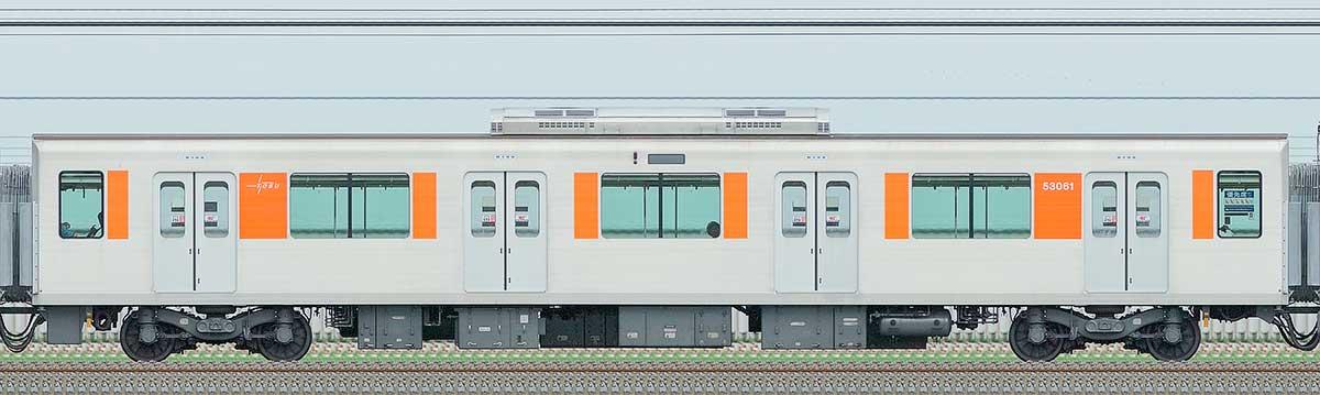 東武50050型モハ53061山側の側面写真