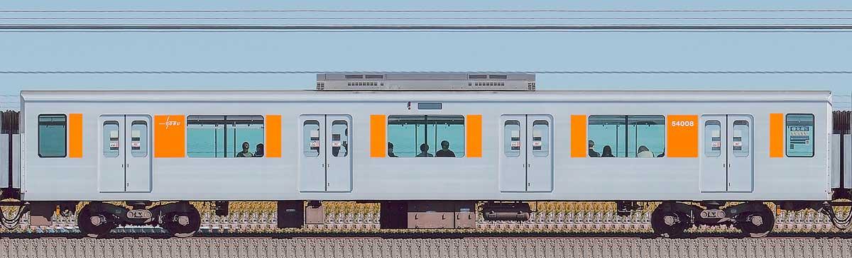 東武50000型サハ54008(スカイツリーライン)山側の側面写真