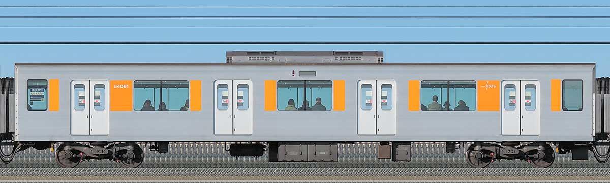 東武50050型サハ54061海側の側面写真