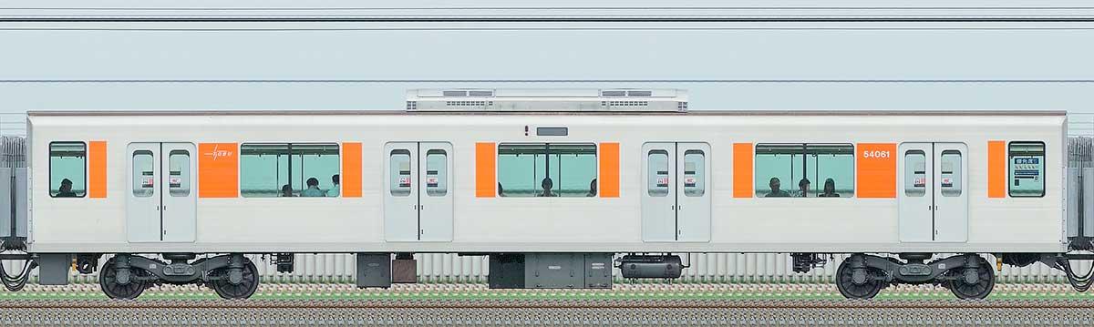 東武50050型サハ54061山側の側面写真