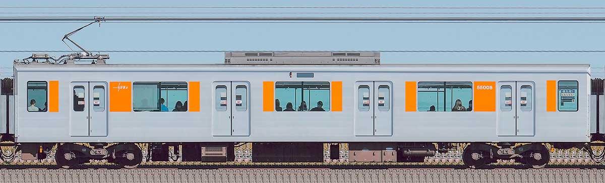 東武50000型モハ55008(スカイツリーライン)山側の側面写真