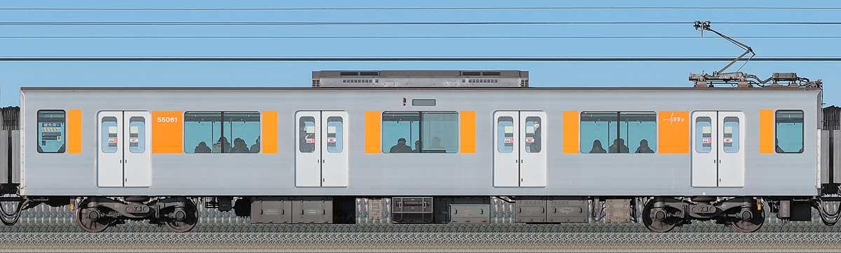 東武50050型モハ55061海側の側面写真
