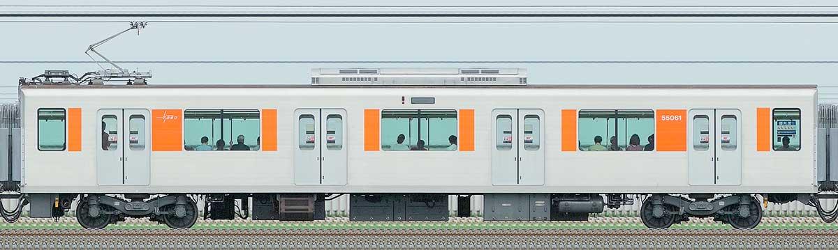 東武50050型モハ55061山側の側面写真