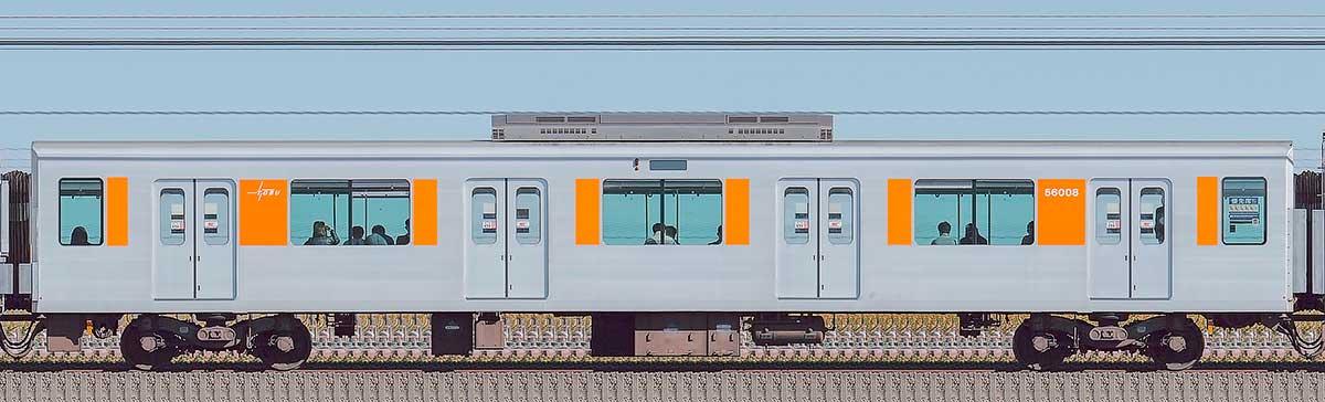 東武50000型サハ56008(スカイツリーライン)山側の側面写真