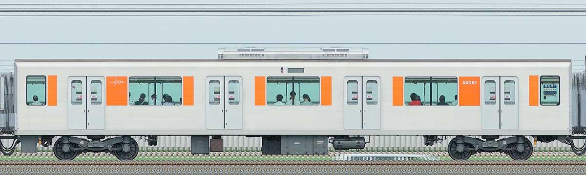 東武50050型サハ56061山側の側面写真