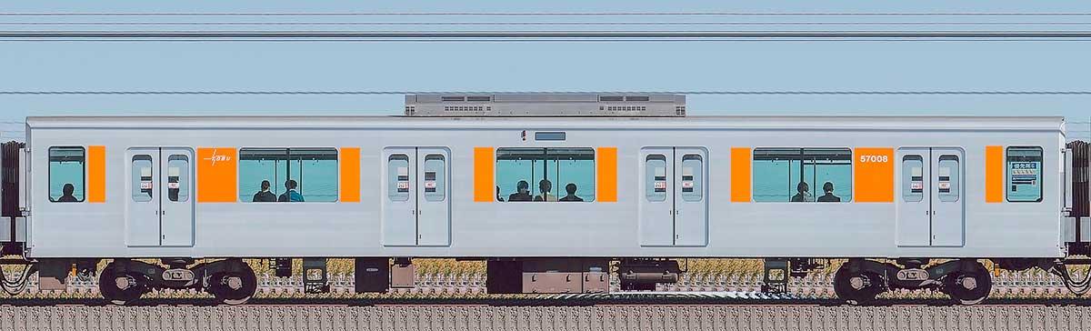 東武50000型サハ57008(スカイツリーライン)山側の側面写真